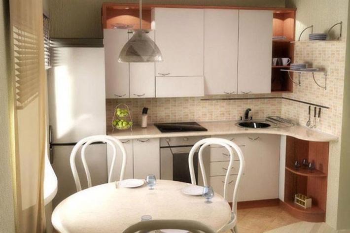 Как сделать кухню в 18 кв